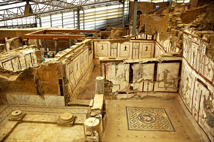 Private guided Ephesus tours terrace houses detail